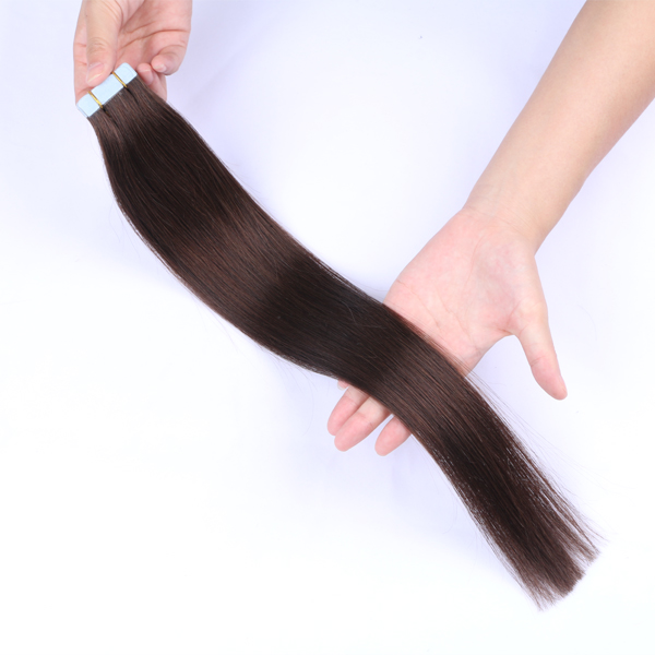 Natural look adhesive tape hair extensionsJF075