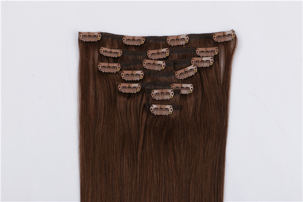Human hair clip in human hair extensions 90g JF023