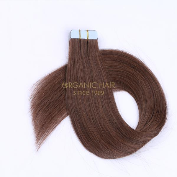 Super quality soft and double drawn thick end best tape in hair extensions JF0264