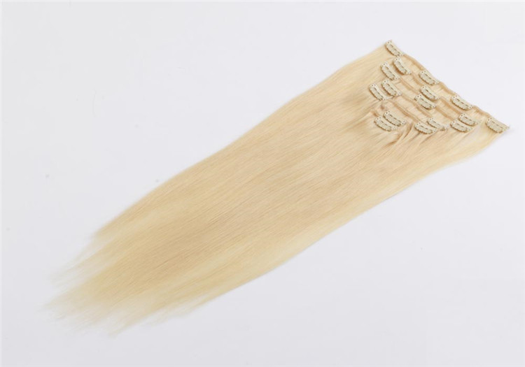 china clip in human hair extension factory QM030