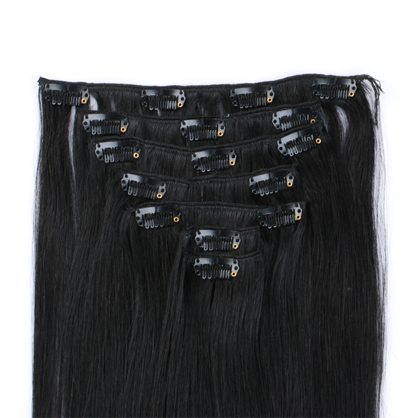 Clip in Remy hair extensions hair sister hair do top quality JF308