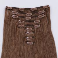 Real hair clip in extensions remy hair JF299