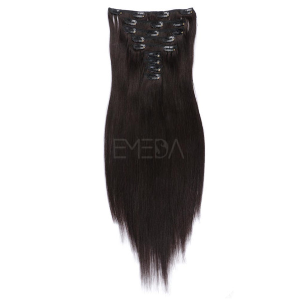 Best Human hair clip in extensions LJ004