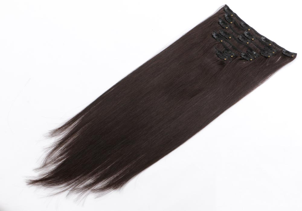 China natural color clip in hair extensions manufacturers QM102