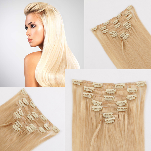 100 real best hair extension UK JF334
