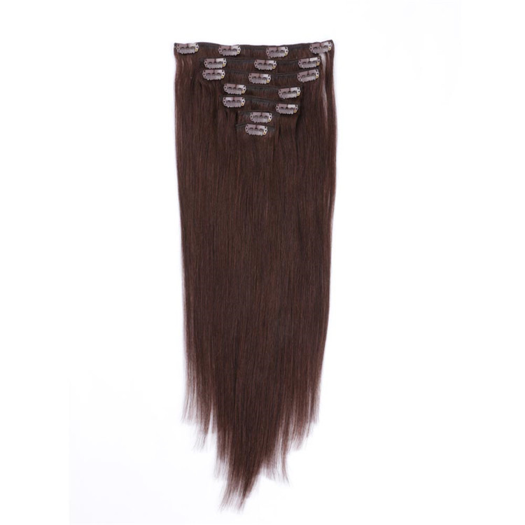 #613 bleach blonde thick end double drawn clip in hair extensions made in china QM108