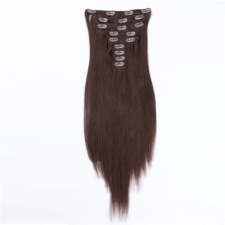 China natural human hair clip in extensions factory QM096