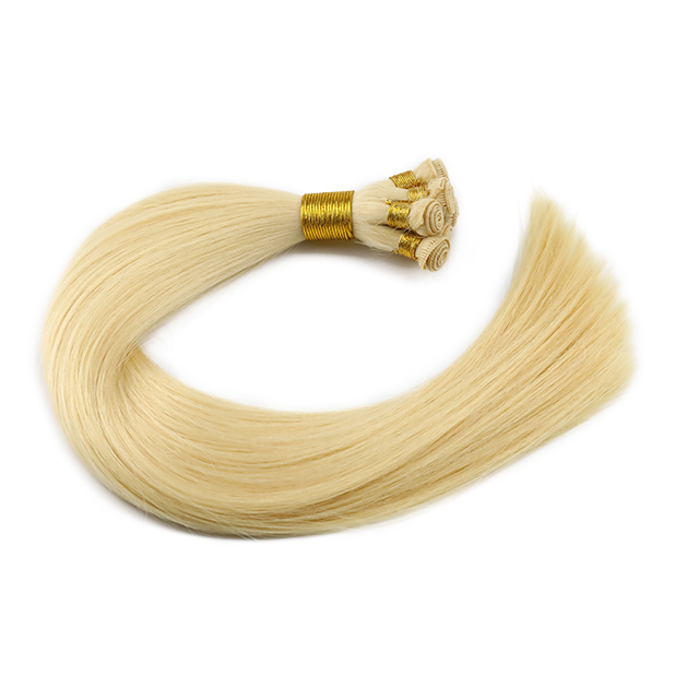 HAND TIED WEFT HAIR Vietnamese human hair extensions 100% Virgin Cuticle Aligned Wholesale QM234