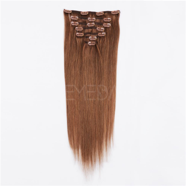 100 remy human hair clip in extensions LJ009