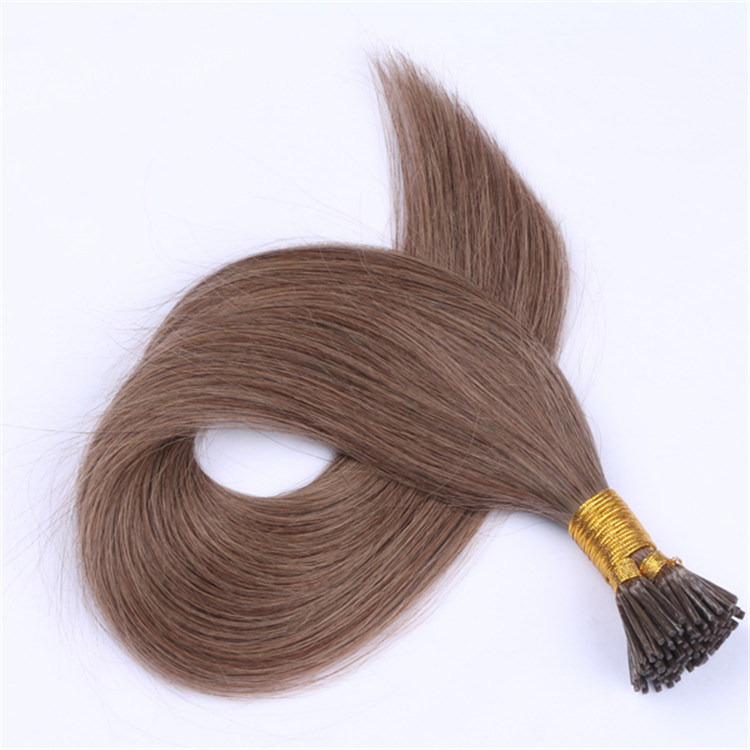 China mini remy i tip human hair extensions factory QM044