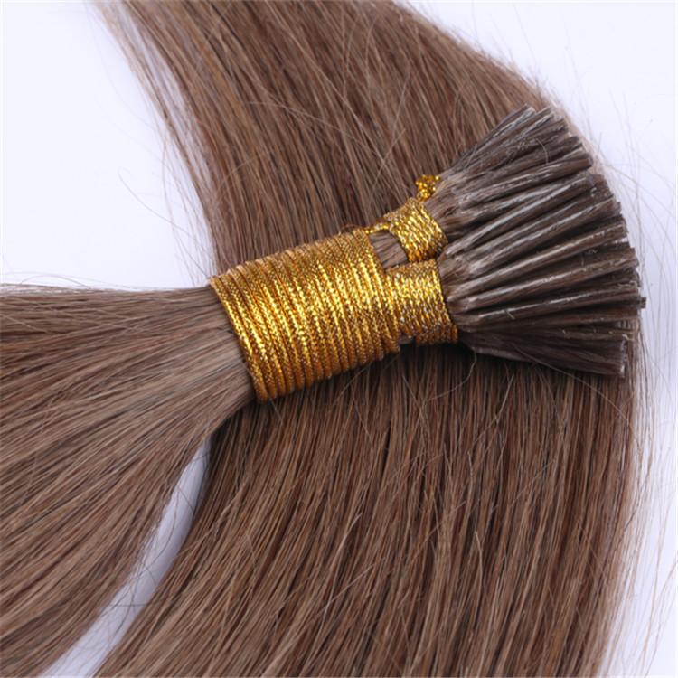 China Mini Remy I Tip Human Hair Extensions Factory Qm044 China