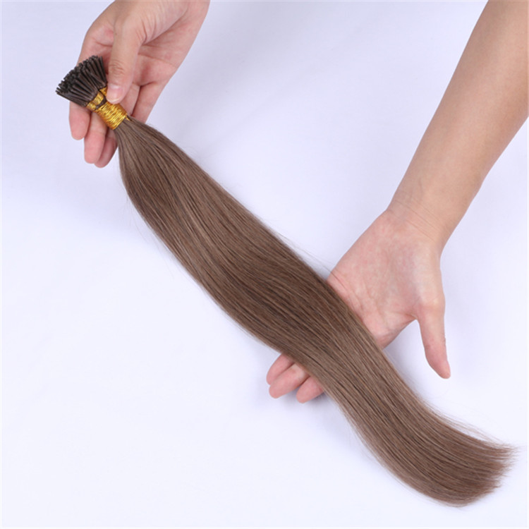 Wholesale double drawn mini i tip hair extensions made in china QM050