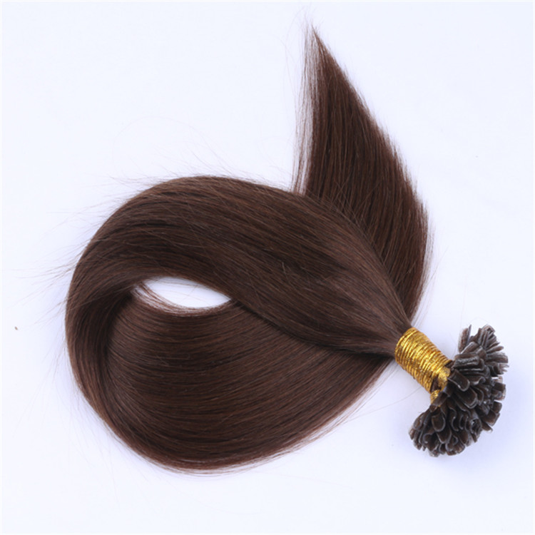 Wholesale prebonded hair double drawn remy human hair full cuticle u tip human hair extensions suppliers QM054