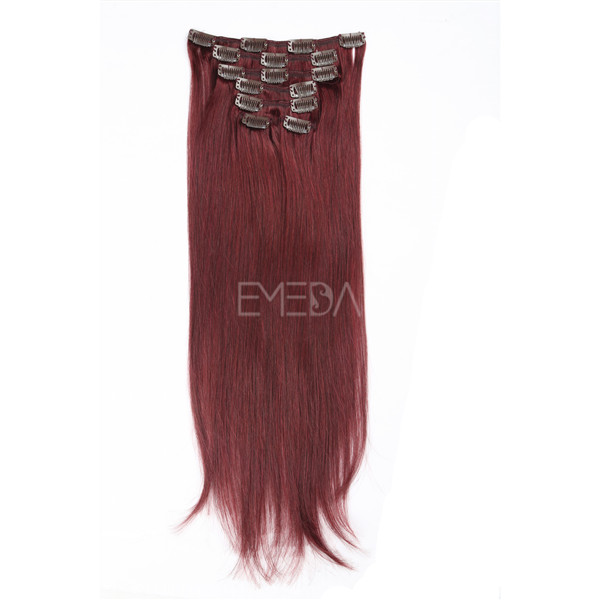 Red Clip In Hair Extensions China Wholesale Red Clip In Hair