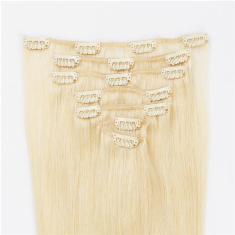 china #613 bleach blonde clip in hair extensions manufacturers QM169