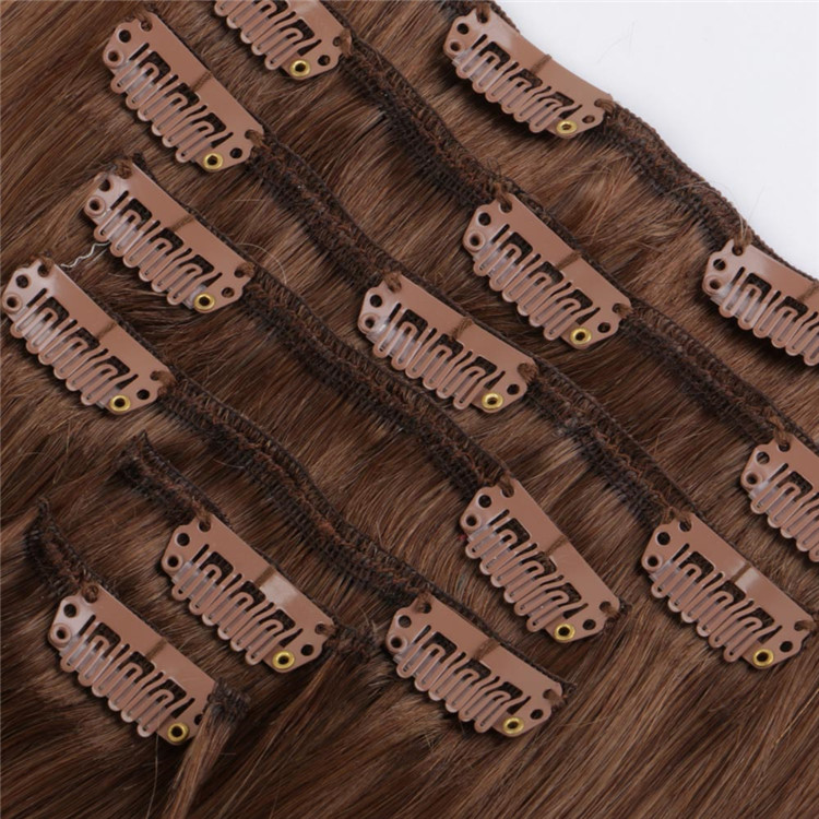 china straight clip in hair extensions manufacturers QM162