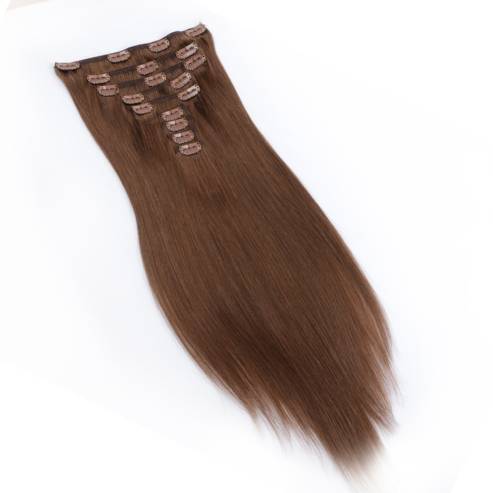 Wholesale factory price thick end clip in hair extension QM072
