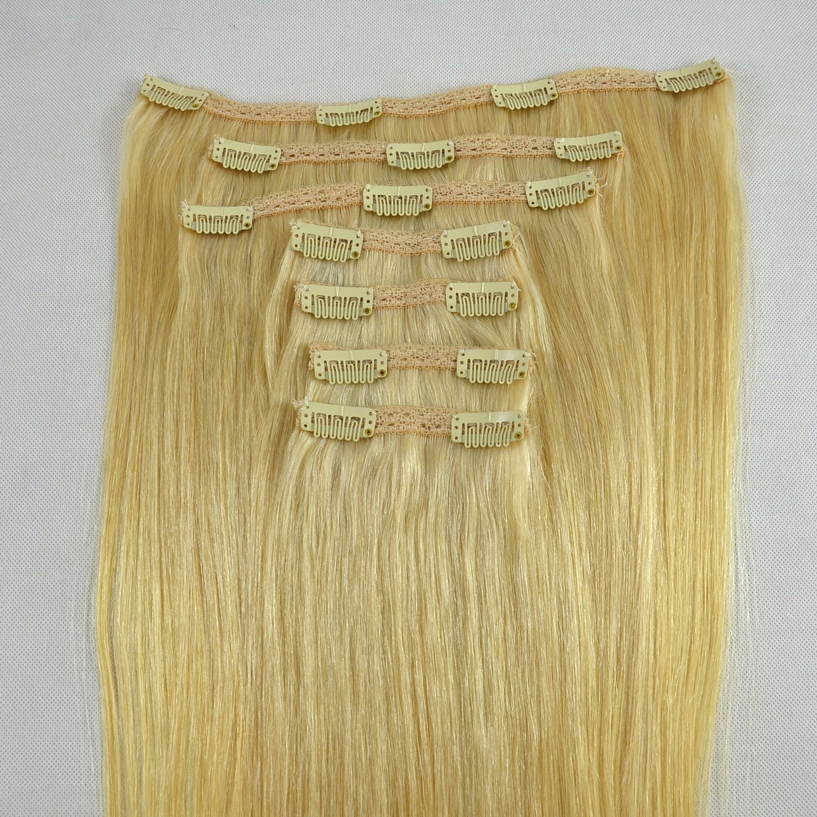 Top quality clip in extensions real hair  JF001