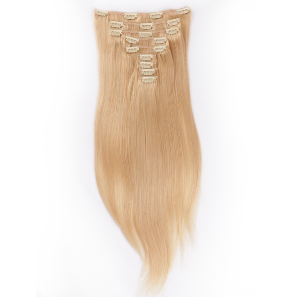 Cheap clip in human hair extensions 100g YJ004