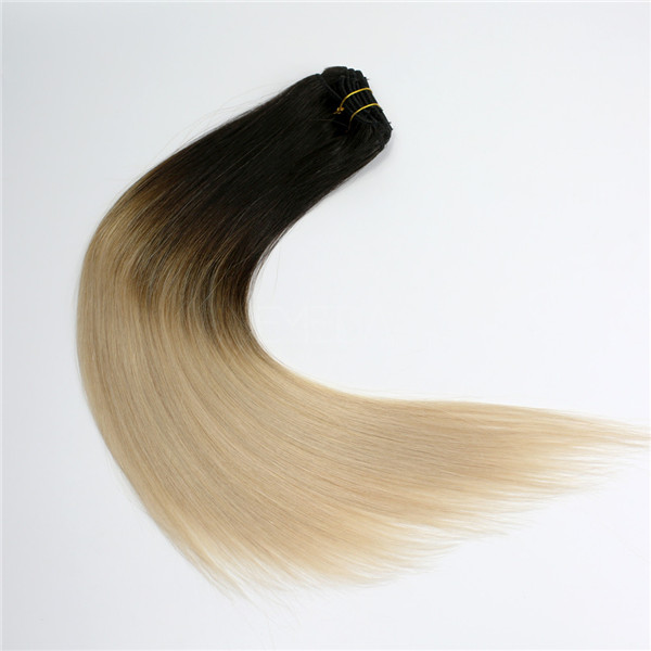 Human hair clip in extensions LJ003