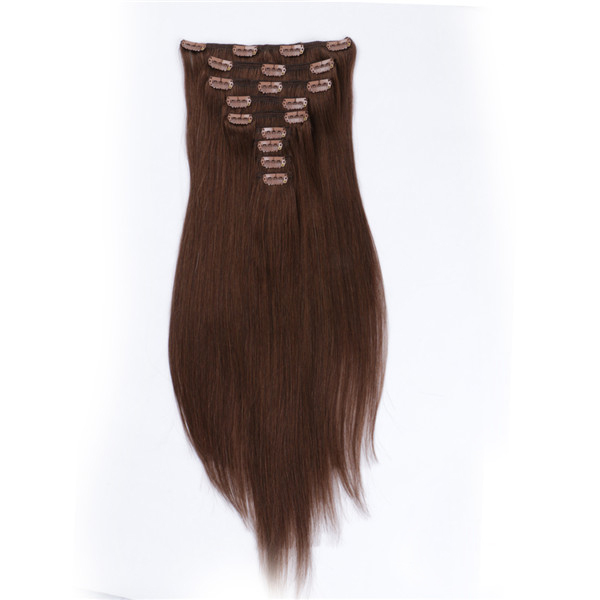 Double drawn best human hair clip in extensions YJ006