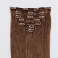 China remy human clip in hair extensions factory for white women QM077