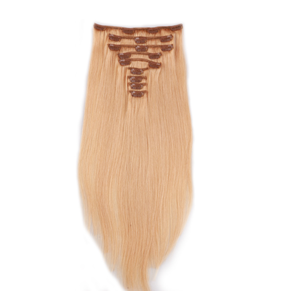 Clip in human hair extensions 70g LJ025