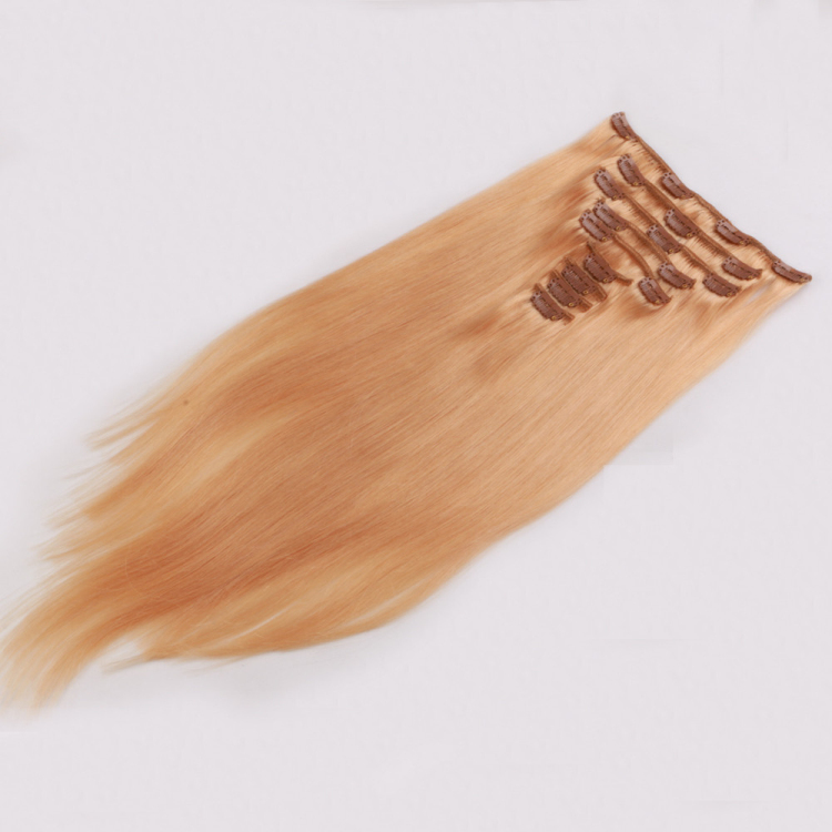 Cheap thick end clip in hair extension brazilian human hair supplier SJ003