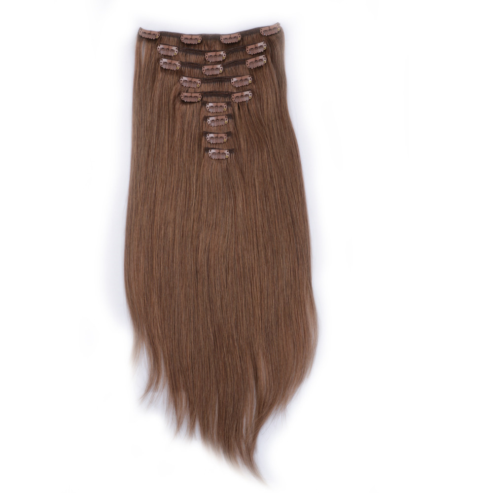 china clip in human hair extension factory QM121