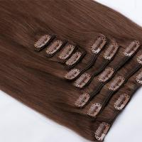 Long affordable clip in hair extensions real humanvirgin remy hair clip ins SJ0074