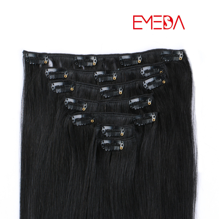 Clip in hair extensions manufacturers human hair clips on weft virgin remy hair