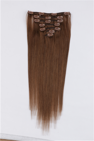 100 human hair clip in extensions JF008