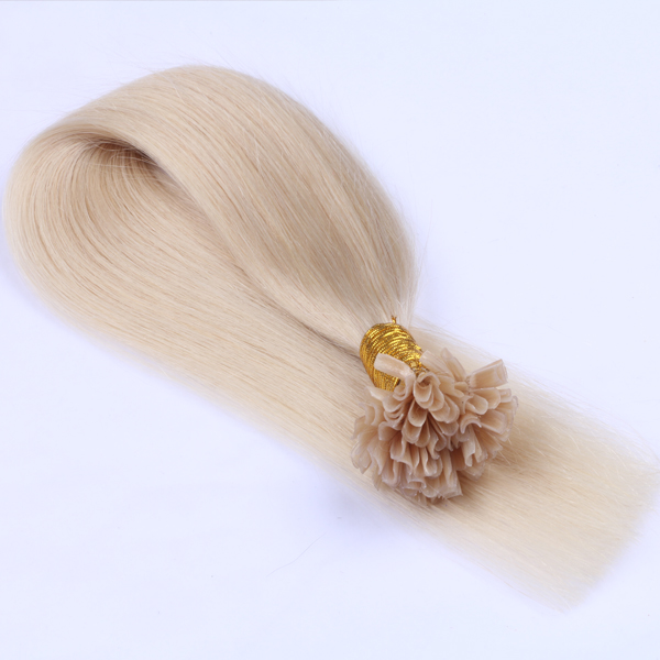 Virgin Remy Hair U tip Blonde extensions JF0268