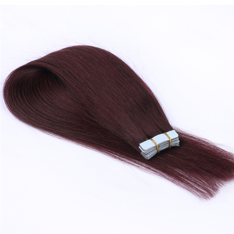 double drawn wholesale hair tape in hair weave extensions made in china QM017