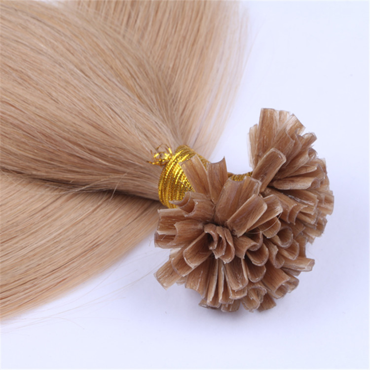 Wholesale prebonded hair double drawn remy human hair full cuticle u tip hair extensions factory QM061