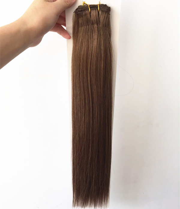 Wholesale double drawn hand tied weft hair extensions QM195