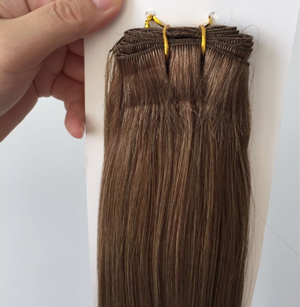 wholesale european double drawn hand tied hair extensions distributors QM202