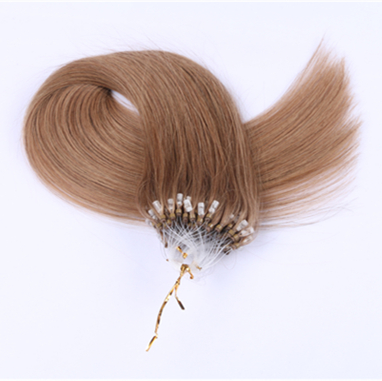 china micro beads human hair extensions supplier QM069