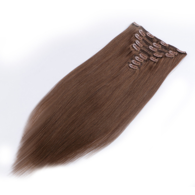 Clip in human remy hair extension made in china SJ0057