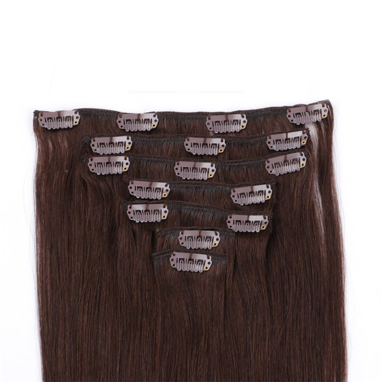 china 24 inch remy clip on hair extesion manufacturers QM144