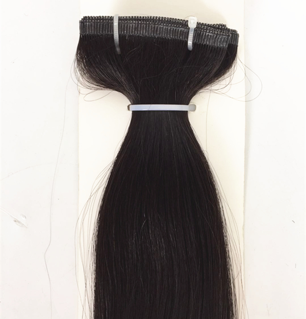 100% real Remy human hair hand tied seamless PU skin weft hair extensions manufacturers QM187