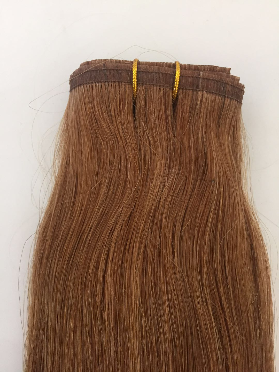 Russian/Mogolian No Shedding Double Drawn Seamless Pu Flat Weft Hair Extension QM188