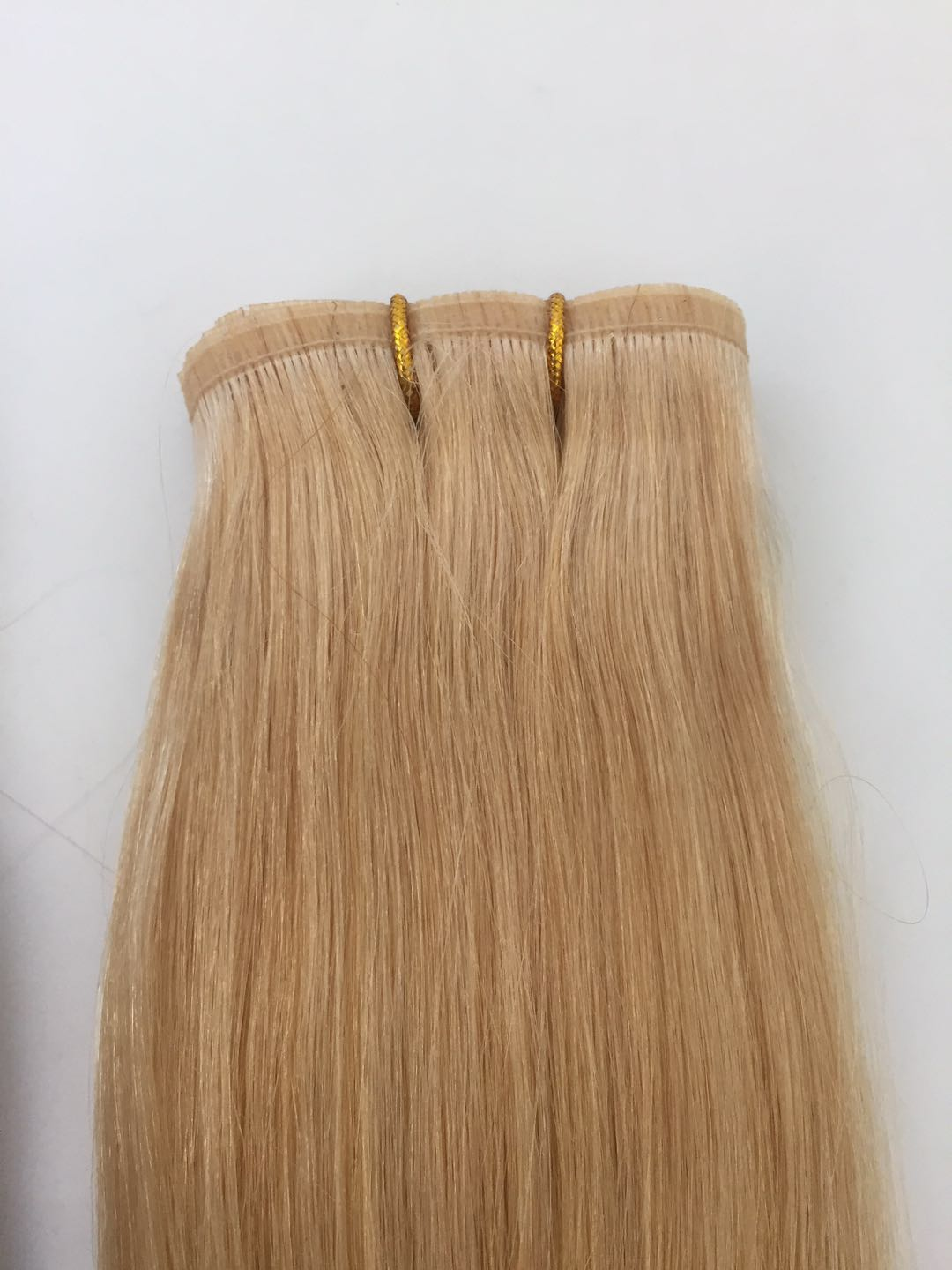 New Double Drawn Flat Remy Human Hair Weave Russian Cuticle Aligned Remy hair PU Skin Weft Seamless Hair extension QM189