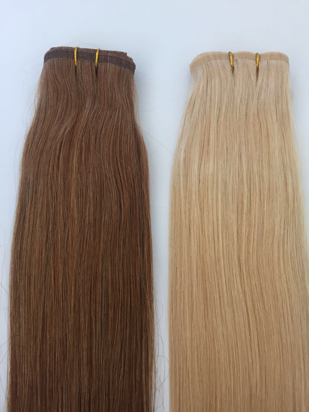 Double Drawn High Quality Cuticle Aligned Russian Remy Virgin Seamless Weft Hair Extensions manufactuers in China QM191
