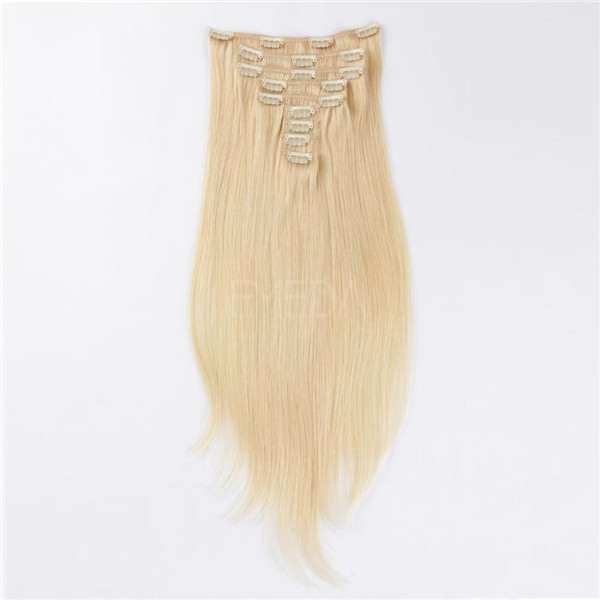 Clip in human hair extensions 120g LJ026