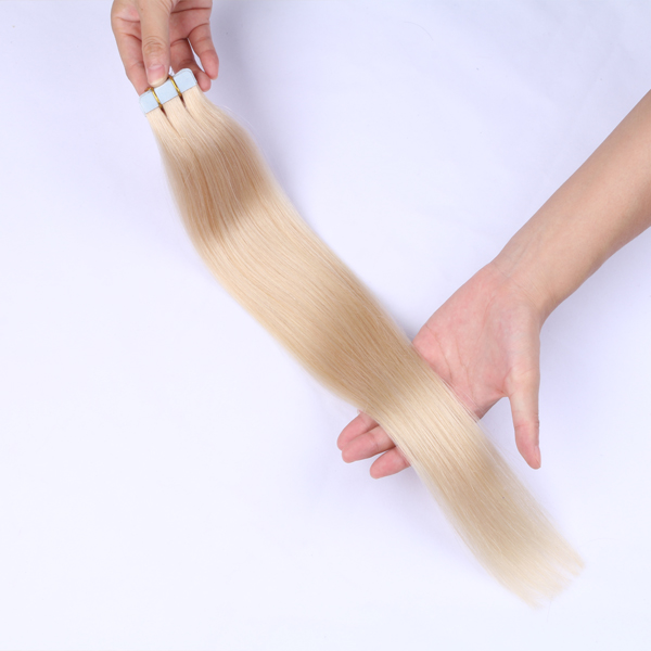 100 human hair tape in extensions make hair soft smooth natural JF0256