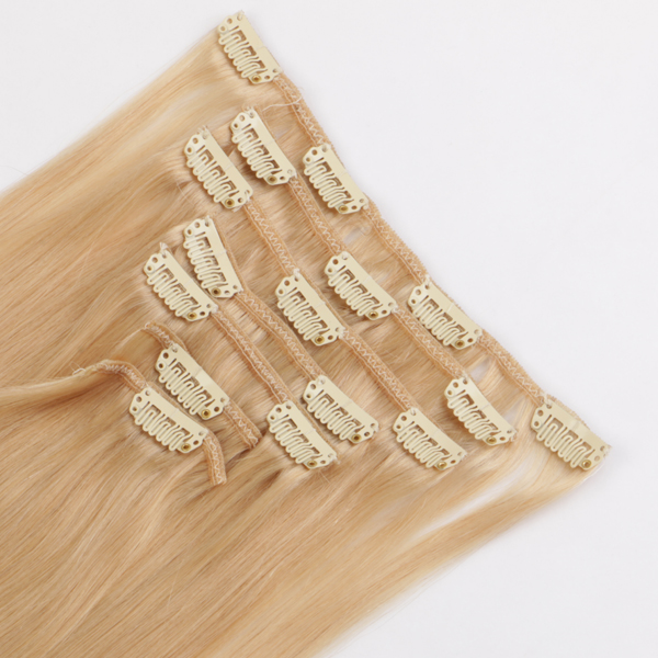 Remy human hair extensions 20 inch clip in hair extensions  hot sell in USA  JF298