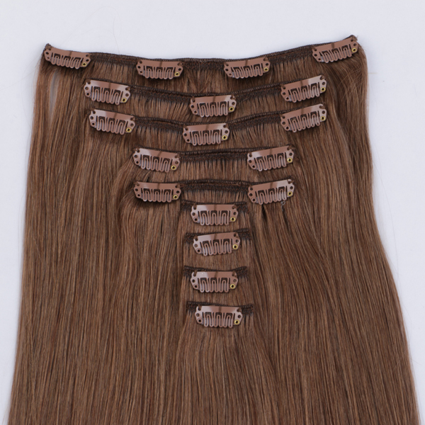 100 real human hair clip in extensions JF276