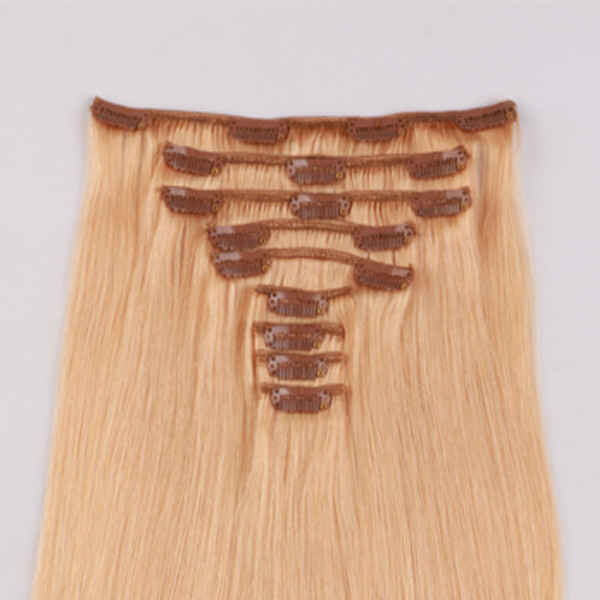 Human hair clip in extensions JF301
