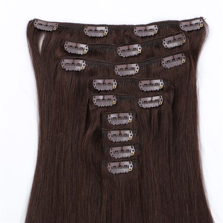 China blonde clip in straight human hair extensions suppliers for women QM107
